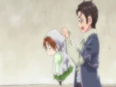me: oswald get out of the cornor!! >:{} i hate it when people stand in cornors. -3- tyki y u glare at
