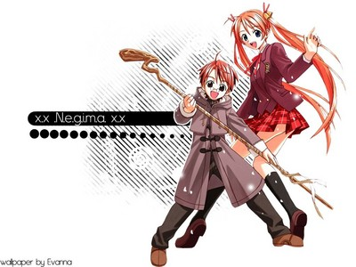Negi Springfield (He's the one with the staff) From Negima! Magister Negi Magi