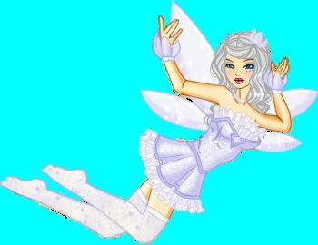 I will be ~ Name: Juniper  Status: Fairy Planet: Eackore Power: Air Hair: Long White Eyes: Blue