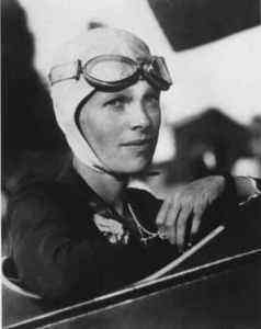 Amelia Earhart: In 1928, she became the first woman to fly solo across the Atlantic in an aeroplane.