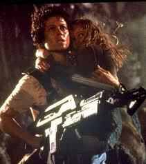 Ellen Ripley (in the Alien series) She's a মহাকাশ engineer, a mother, and she kills aliens (but only