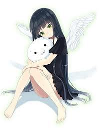 Melissa Adams X3 Like... Black hair, green eyes, black wings... *Shrugs* First time doing this X3