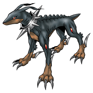 And also her partner Dobermon
