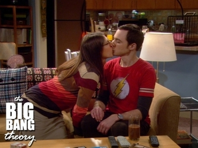 I wont do Glee this round :) Sheldon and Amy (Big Bang Theory)