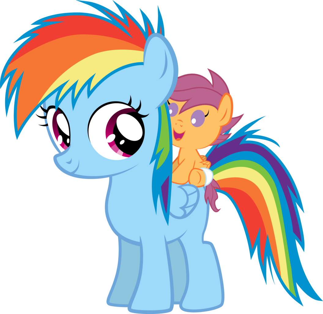My little pony friendship is magic rainbow dash filly