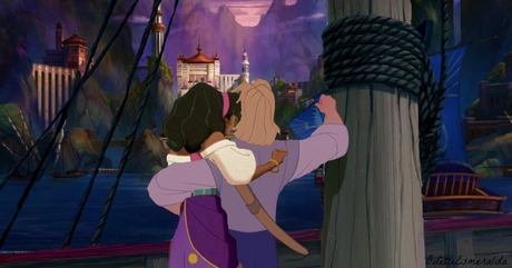 Definitely John and Esmeralda. They just fit together perfectly.