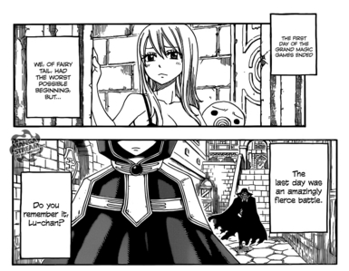 Hi! I again.In internet I write Fairy tail chapter 300 and found this. Sad Lucy and that mysterious