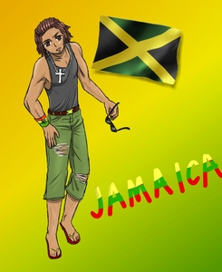 Jamaica *thinks of Jamaican stereotype* Oh what a joy he would be in Hetalia!