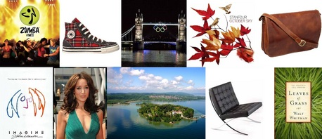 """In no particular order: #1 Zumba fitness classes #2 Converse Chucks """"Plaid"""" #3 Olympics in Londo"""
