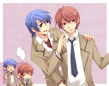 My first Любовь for Яой was when watching Энджел Beats. I ship Otonashi and Hinata like there's no tomo