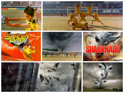 Sharknado like I can't believe I watched ALL OF THAT and Shaolin putbol same tanong I litera