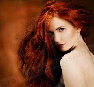I think my natural haircolour is the best for me, but if I had to, something like this red shade.