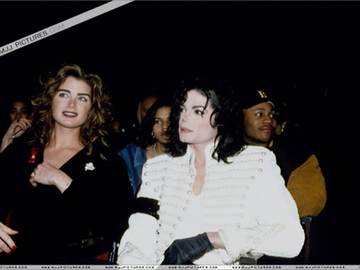 Michael and Brooke Shields at the 1993 Grammy Awards