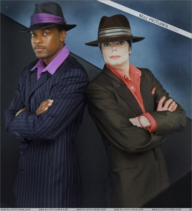 "Michael and Chris Tucker in the promo ad for the 2001 short film, ""You Rock My World"""
