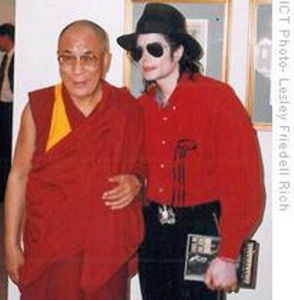 MJ and Dalai Lama
