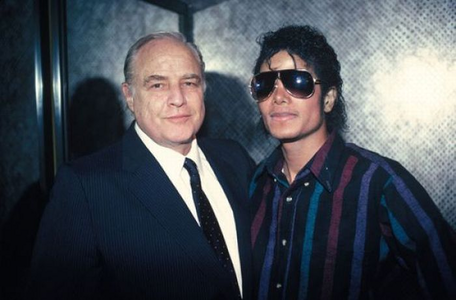 MJ and Marlon Brando