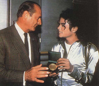 MJ and Jacques Chirac