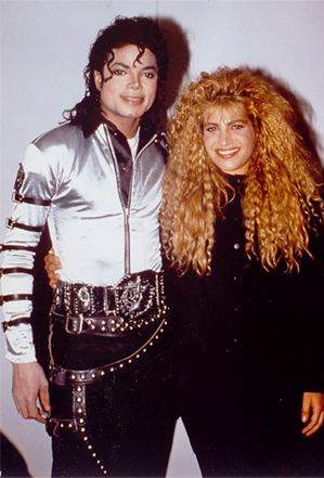 "Michael backstage with Taylor Dayne during the ""Bad"" tour"