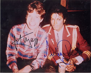 Michael Jackson and Mike Jagger
