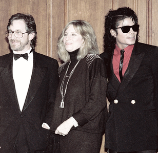 Michael with Steven Spielberg and Barbara Streisand