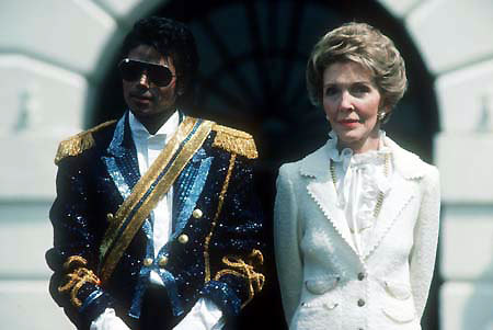 Michael and former first lady, Nancy Reagen back in 1984