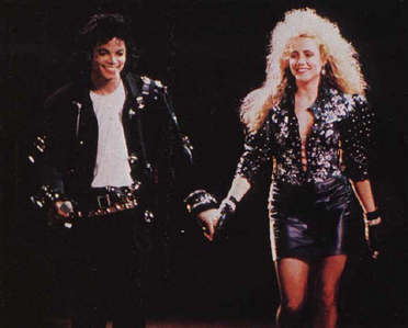Michael and former backing vocalist, Sheryl Crow, on tour