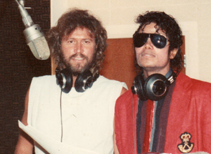 Michael and good friend Barry Gibb...