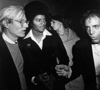 Michael with Andy Warhol and Steve Rubell