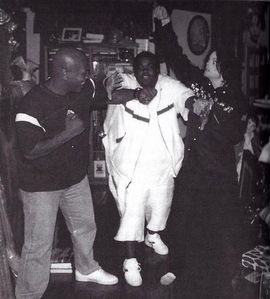 Michael with Mike Tyson and Rodney Jerkins