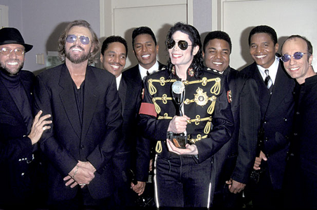 1997 Rock and Roll Hall Fame Induction ceremony alongside good friends, The Bee Gees