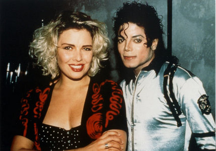 Michael Backstage with Kim Wilde