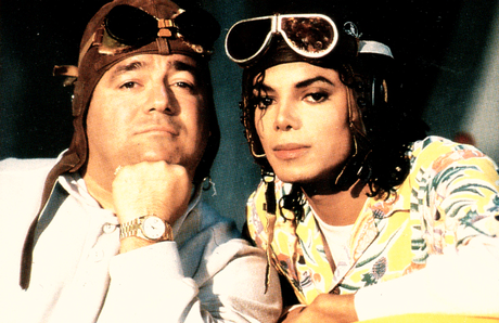 MJ with manager and friend Frank DiLeo...