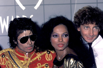Backstage at the 1984 American Musica Awards.