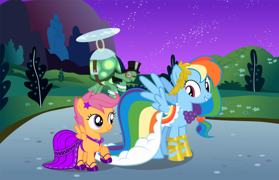 Rainbow Dash And Scootaloo Human Scootaloo And Rainbow Dash