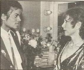 Michael backstage with Shirley Macclaine