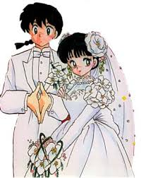 At the end of the manga, it was دیا that the marriage of Akane and Ranma was POSTPOND..............