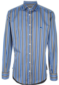 ((For Mr. Tetsuya.)) Today I get... A stripped shirt. -looks at and puts it on- Does it look g