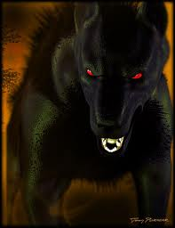 (The Beast is appears ahead as just one then 10 walk up behind the group and 10 walk up in front of t
