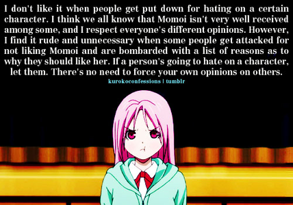 eventhough i respect everyone's opinion..i wish that they should stop bashing other character like a