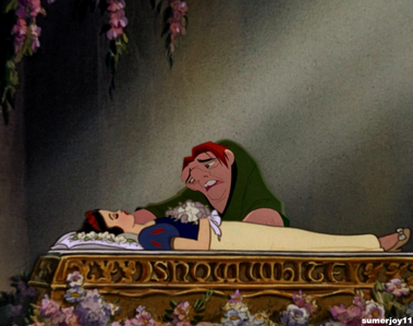Snow White, the only woman, of person for that matter, who could look upon Quasi without a hint of fe