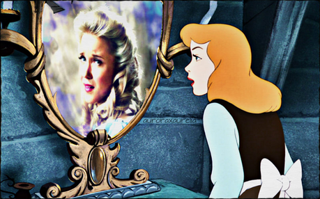 Here is mine. Her 'Happily Ever After' isn't all its cracked up to be, so the mirror tells her.