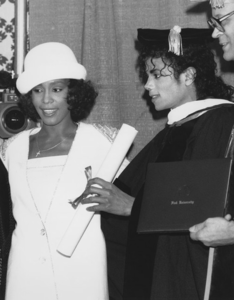 Michael and Whitney back in 1988