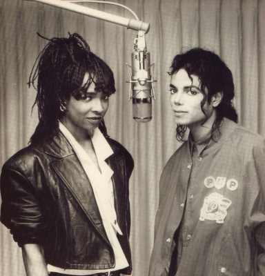 Michael and Siedah in the recording studio
