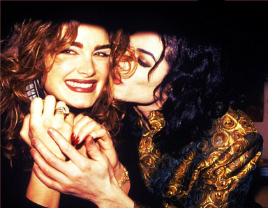 Michael and Brooke Shields back in 1993