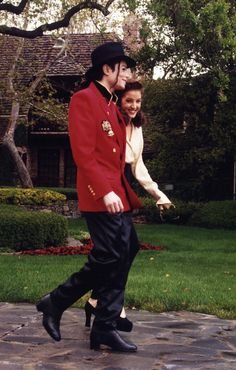 Michael and Lisa Marie back in 1995