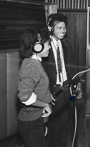 In the recording studio with younger sister, Janet