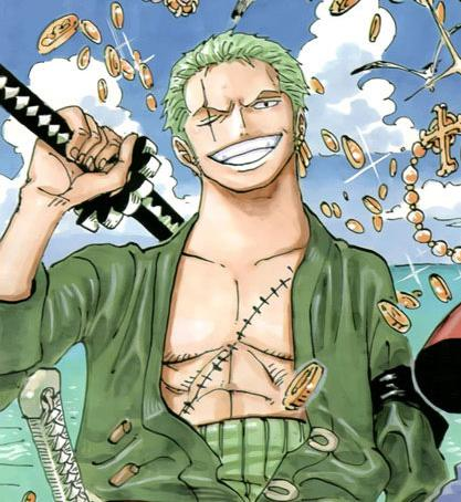 Zoro! He's cool and badass. آپ just don't mess with him, when he isn't lost. My سیکنڈ would be Traf