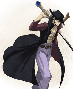 I envy Mihawk for his freedom; he can go wherever he wants in the Grand Line, casually appearing in e