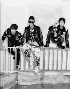 Jin, jimin and rapmonster of Bangtan boys in jacket awww ♥*♥*♥♥*♥*♥