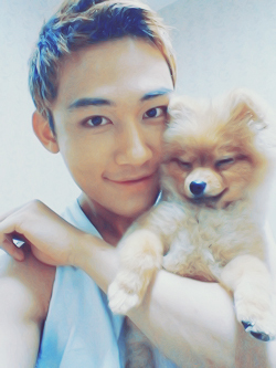 Jaeseop-oppa and his cutie dog♥